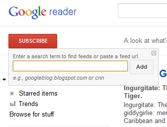 Google Reader Subscribe
