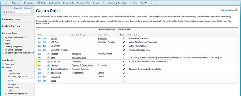 Salesforce Custom Objects