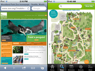 Woodland Park Zoo Mobile Site
