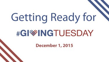 Getting Ready for #GivingTuesday on Dec. 1